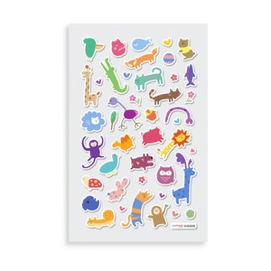Itsy Bitsy Stickers - Wackly Wildlife