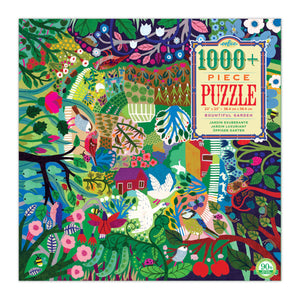 Box featuring a colorful image featuring multicolored flowers and garden elements