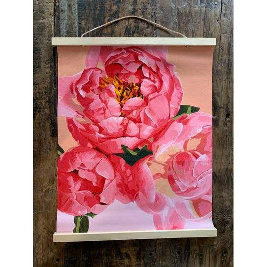 Paint-by-number: Petal Power Printed Canvas