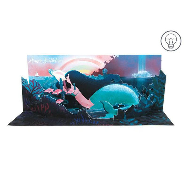 Underwater Panoramic Pop-up Card with light