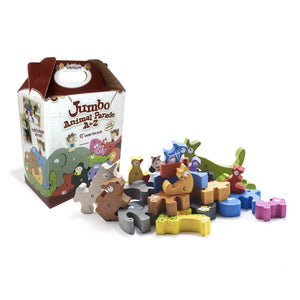 Animal Parade A to Z Puzzle and Playset - Jumbo Version