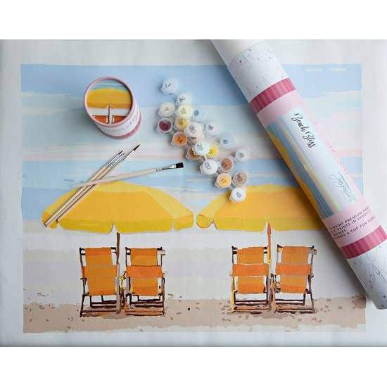 Paint-by-number: Beach Bliss Printed Canvas