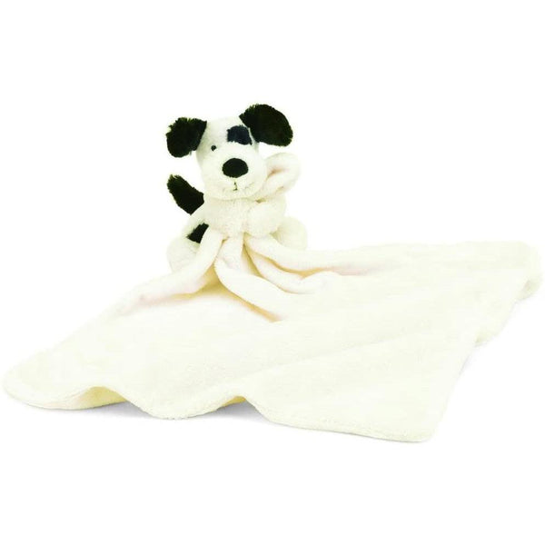 "Bashful Soother - Black & Cream Puppy - 18""x13"""