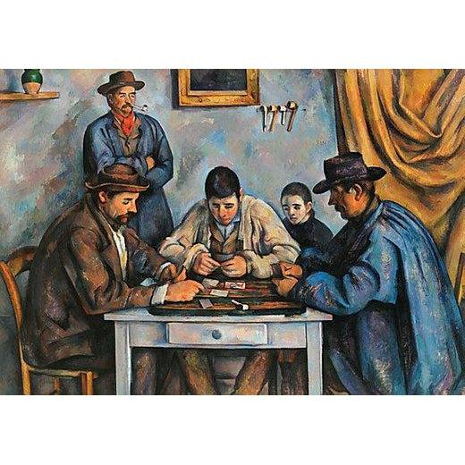 The Card Players, 1000-piece Velvet-Touch Puzzle art by Cézanne