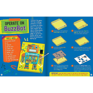 Circuit Games sample book pages: Operate on BuzzBot
