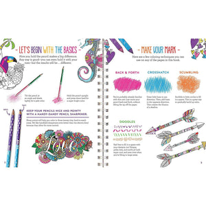 Coloring crush book, sample pages, The Basics