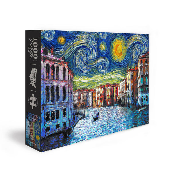 Venice, Italy - Starry Night Puzzle - 1000 Piece