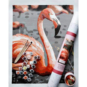 Paint-by-number: Frannie Flamingo Printed Canvas