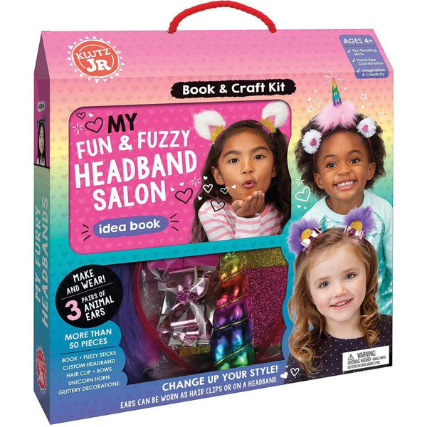 Outer carrying box with images of the headband salon.