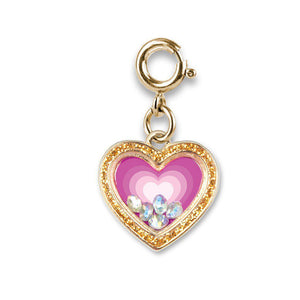 Charm It - Gold Heart Shaker Charm