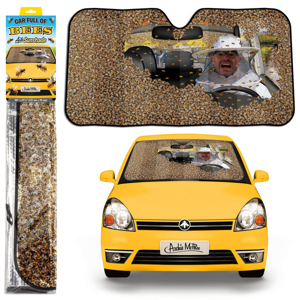 Auto Sun Shade - Car Full of Bees