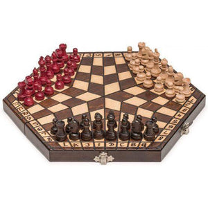 Three-Player Wooden Chess Set
