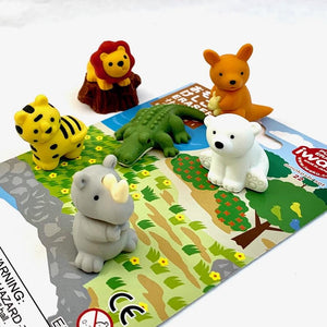 Puzzle Eraser Card Set - Safari