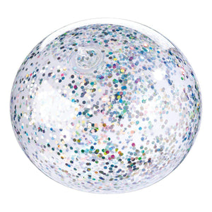 Inflated glitter clear balloon