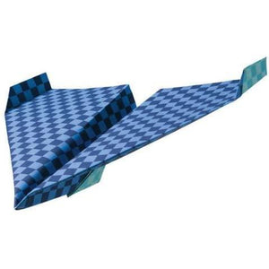 Checkered paper airplane