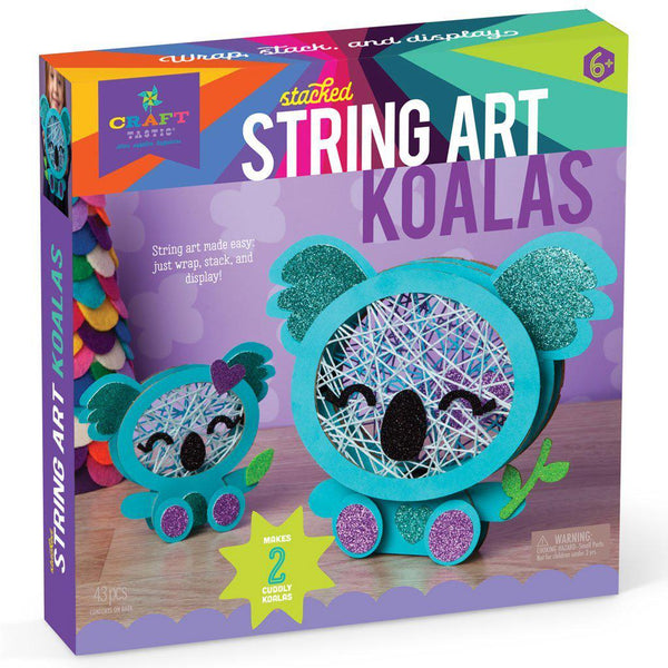 Craft-tastic Stacked String Art Koalas