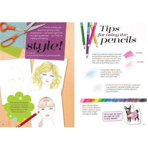 Lookbook sample page: Tips for using the pencils