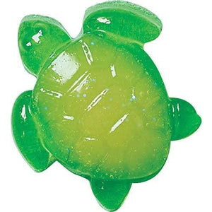 Green and yellow turtle jelly soap.