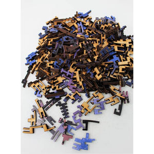 Pile of puzzle pieces