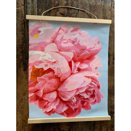 Paint-by-number: Perfect Petals Printed Canvas