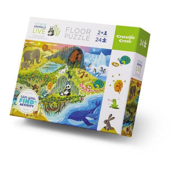 Puzzle - Early Learning/Where Animals Live - 24 pc