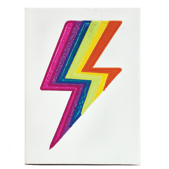 Rainbow Lightning Faux Leather Journal