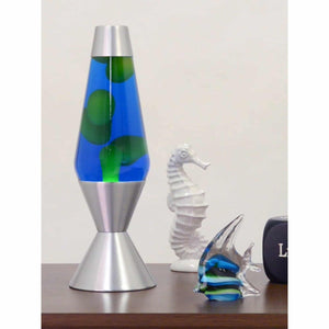 "16.3"" Lava Lamp - Yellow, Blue & Silver"