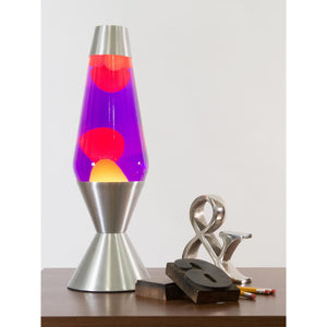 "16.3"" Lava Lamp - Yellow, Purple and Silver"