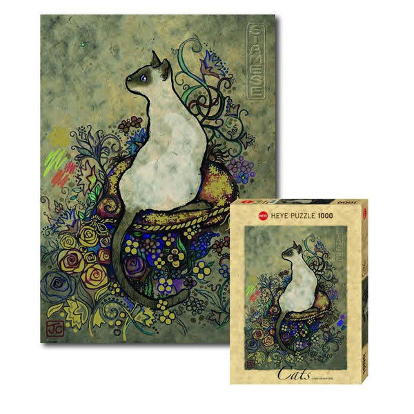 Crowther Siamese - 1000 piece - Gold Print