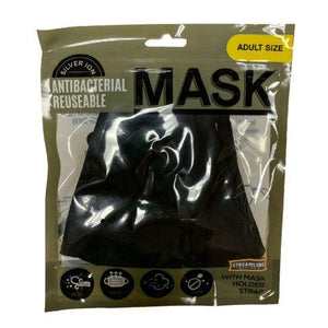 Silver Ion Antibacterial Mask with Holder Strap