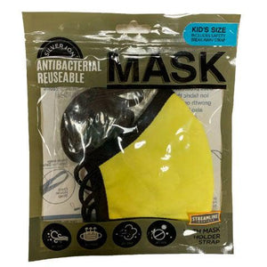 Silver Ion Antibacterial Mask with Holder Strap - Kids
