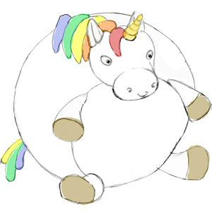Rainbow Unicorn - 15-inch