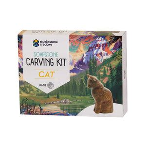 Soapstone Carving Kit - Cat