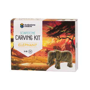 Soapstone Carving Kit - Elephant