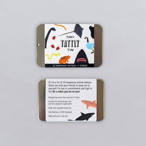 Tiny Tins - The Tiny Animal Tin, By Lorien Stern - Tattoos - Set of 10