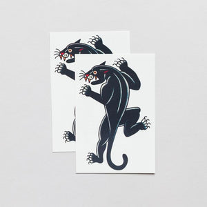 Panther, by Jessi Preston - Tattoo - Set of 2
