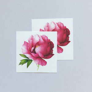 Pink Peony, By Vincent Jeannerot - Scented Tattoo - Set of 2