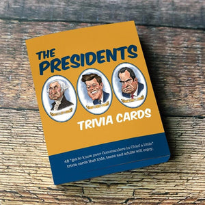 the presidents trivia card box