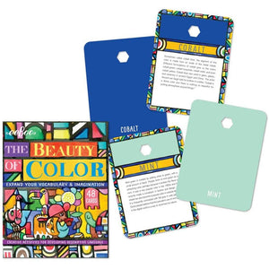 The Beauty of Color box and sample cards - Mint and Cobalt