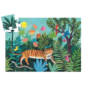 Tiger's Walk Silhouette Puzzle - 24 Piece