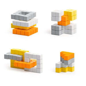 Abstract Series - Retrofuturism - 60 magnetic blocks in 4 colors