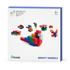 Story Series - Bright Animals - 90 magnetic blocks in 6 colors