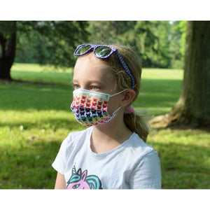 KIDS FUN MASKS - BUTTERFLY & RAINBOW PLAYGROUND DESIGNS -  (6-PACK)