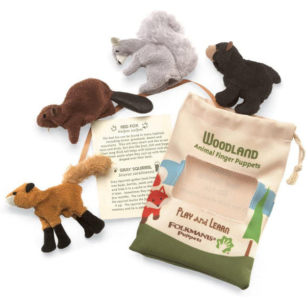 Woodland Animal Set - Finger Puppet