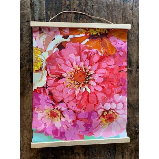 Paint-by-number: Zealous Zinnias Printed Canvas