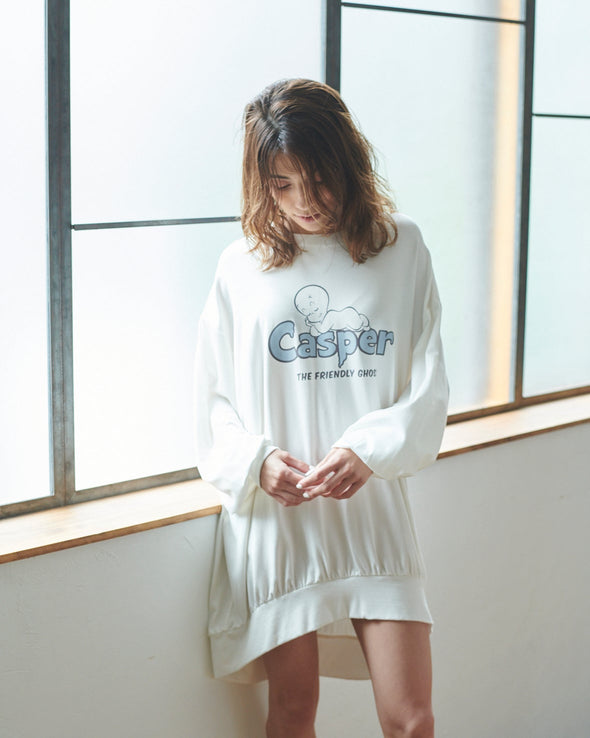 【CASPER】One Point Big Sleeve Dress