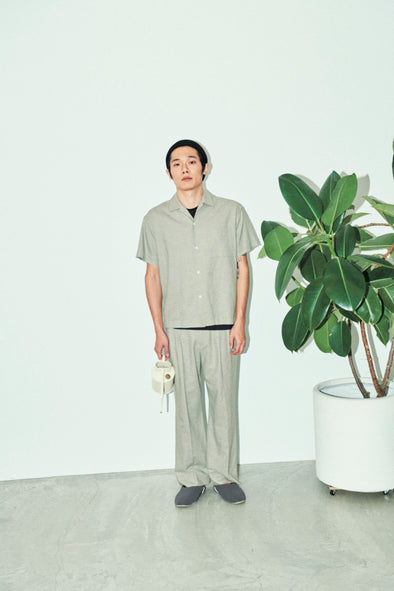 HOMME Linen Mix Long Pants