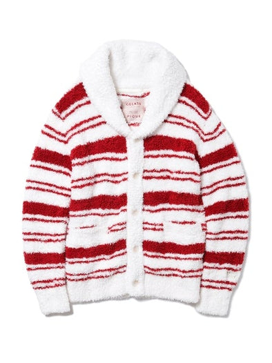 【X'mas limited edition】 HOMME Gelato Border Cardigan (PMNT185944)