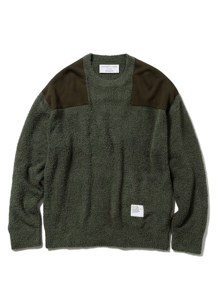 【MISTERGENTLEMAN x GELATO PIQUE HOMME】BAMBOO PATCHED PULLOVER