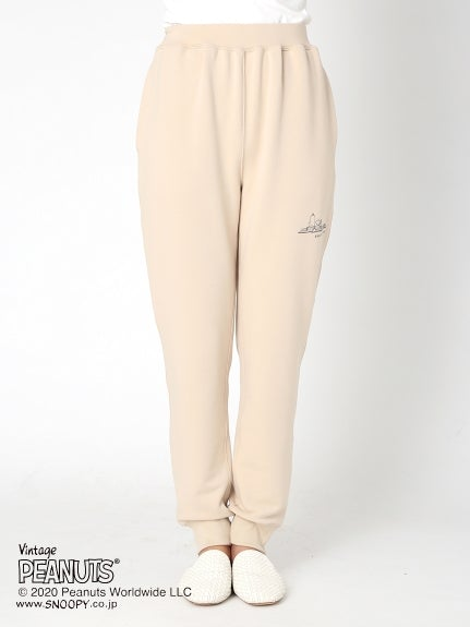 【PEANUTS】Fleece Long Pants